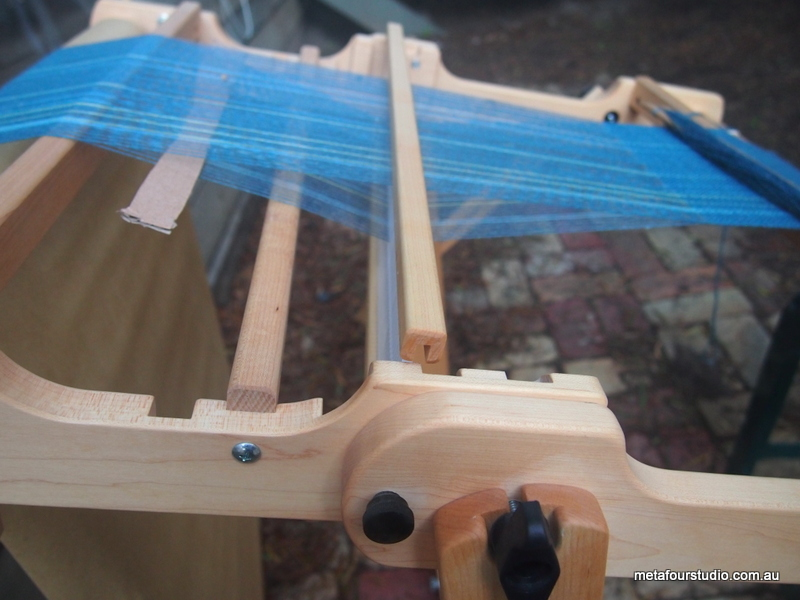 Finding a Down Shed on a Schacht Flip Rigid Heddle Loom